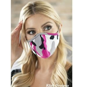 3/20$ Pink Camouflage Face Mask